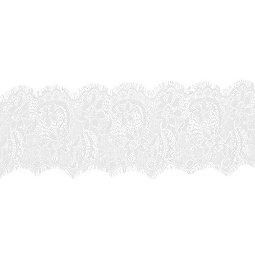 Imported 3ya Lace Ribbon Eyelash Edge Mesh 3 Flower Lace Trimmings 18cm White