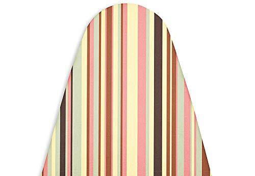 Encasa Homes Bügelbrettbezug für Dampfbügeleisen mit extra dickem Polsterung, Gummizug, 122x38 cm (Für große Standardbretter) Wärmereflektierend, Scorch & Fleckresistent, Köperstoff - Multistripe