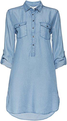 FIND Denim Shirt, Vestido para Mujer, Azul (Light Indigo), Small