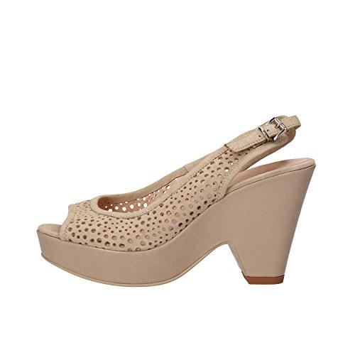 SERGIO CIMADAMORE sandali donna blu / beige camoscio (36 EU, Beige)