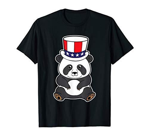 t Uncle Sam's Hut Pandabär 4th of July T-Shirt ()