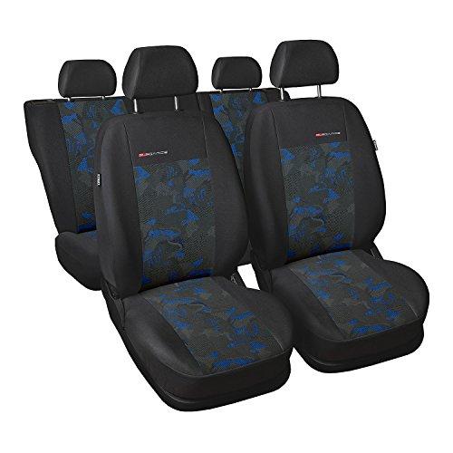 Gsmarkt Elegance Ensemble complet de housses de protection pour siège automobile Universelles pour 5 places Bleu Protection et élégance