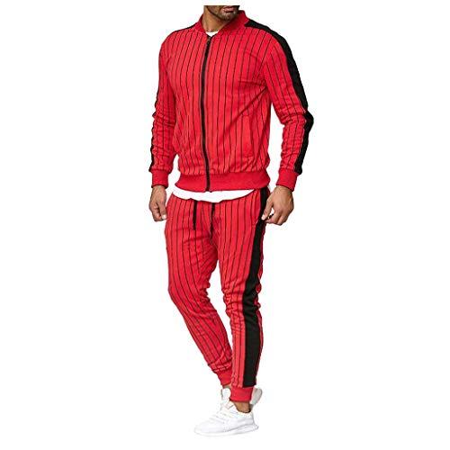 Setsail Herren Herbst Winter Casual Button Sweatshirt Trend Top Hosen Sets Lockerer Komfort Sport Anzug Trainingsanzug Einfach Joker Kleidung Geeignet für Indoor- und Outdoor-Aktivitäten (Satin-lounge-hose)