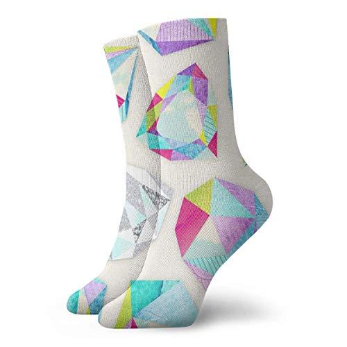 Zhengzho Diamant Bequeme atmungsaktive Wandersocken 30cm Söckchen Lässige gemütliche Crew Socken für Herren, Damen, Kinder -
