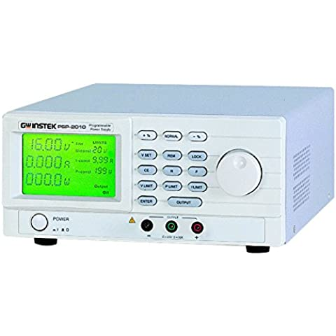 GW Instek PSP-2010 - Fuente de alimentación CC (conmutada, programable, con pantalla LCD, 0-20 V, 0-10 A, 200