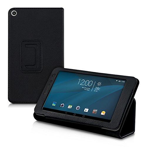 kwmobile Huawei MediaPad T1 7.0 Hülle - Tablet Cover Case Schutzhülle für Huawei MediaPad T1 7.0 - Schwarz mit Ständer