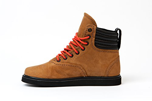 Supra HENRY S03023, Bottes mixte adulte - chocolate/rot