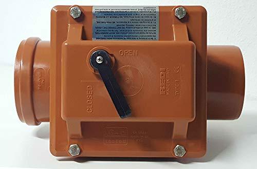 RUG Einfach-Rückstauverschluss DN110 DN125 DN160 Rückstauklappe Hochwasser Kanal, Durchmesser:DN 160