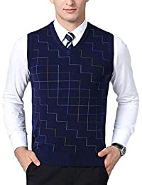 0b2c4147ab883 Mens Wool V-Neck Sleeveless Vest Classic Knitwear Knitted Sweater
