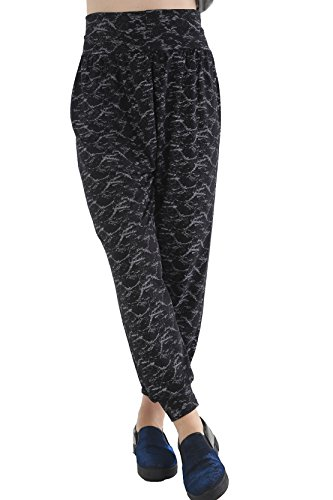 GW CLASSYOUTFIT® Ladies Full Length Hareem Ali Baba Dance Palazzo Fitted Trouser Army Print UK Girls Long Harem Pants Women Baggy Trouser Harem LEGGINGSPLUS Sizes to 26