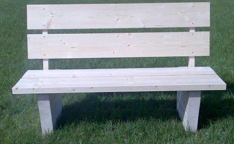 gemütliche Gartenbank Sitzlänge 140 cm Holz ist natürlich und unbehandelt Parkbank - (3025)