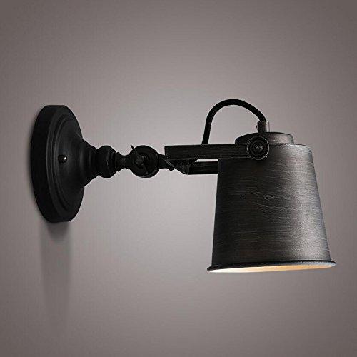 Retro Industriel Chambre Tête de Lit Mur Lampe Corridor Escalier Restaurant Fer Art Réglable Rotatif Applique Murale E27