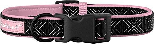 Knuffelwuff 13953-006 Memory Foam Neopren Hundehalsband gepolstert, 25-35 cm, rosa