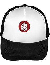 Ganesha Red Logo Gorras Hombre Snapback Beisbol Negro Blanco