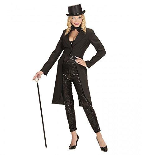 shoperama Schwarzer Frack für Damen Show-Girl Kabarett Jacke Gehrock Frauenfrack Revue, Größe:S (Magier Und Showgirl Kostüm)
