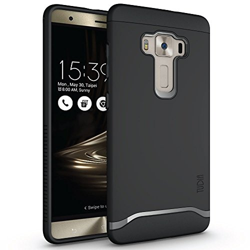 ZenFone 3 Deluxe Hülle, TUDIA Slim-Fit Merge Dual Layer Schutzhülle für ASUS ZenFone 3 Deluxe ZS570KL (Matte Black)