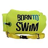 BornToSwim Saferswimmer Boje und Packsack, Fluoreszierend Grün, 64 x 30 x 0.05 c