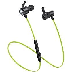 Auriculares Bluetooth Vismera Cascos Bluetooth magnéticos y deportivos, Auriculares inalámbricos con Bluetooth 4.1 para running (resistentes al sudor, estéreo, micrófono incluido, cancelación de ruido)