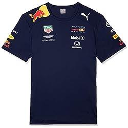 Red Bull Racing Aston Martin Team Tee 2019, S T- T-Shirt Bleu Navy, Small Homme
