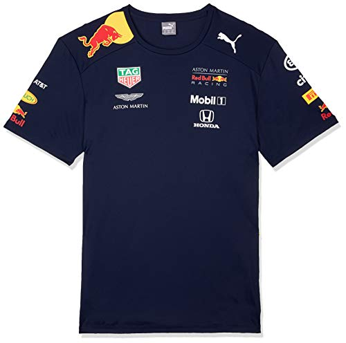 Red Bull Racing Aston Martin Team tee 2019, L Camiseta Azul Navy, Larg