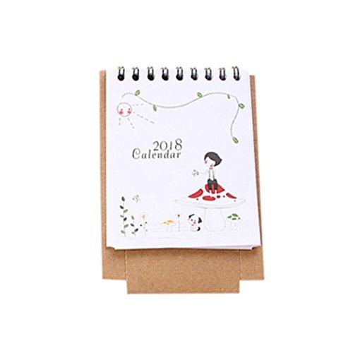 Kalender erthome 2018 Cute Cartoon Tier Schreibtisch Desktop Kalender Flip Stand Tisch Büro Planer (F) (Schreibtisch Katze-kalender)