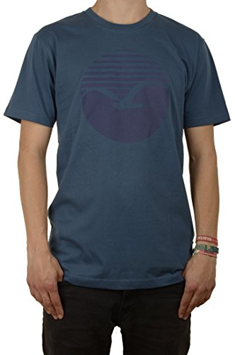 Cleptomanicx Big Sunrise T-Shirt Blau