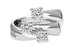 Idea Regalo - Anello Trilogy Eternity Recarlo Kt. 0,10 Diamanti E Oro Bianco