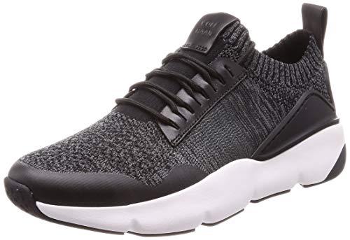 Cole Haan Herren Zerogrand All-day Trainer Sneaker, (Black/Gray Pinstripe Knit/Black/Optic White Blk Knt/Ltr/Wht-Gr), 43.5 EU (10.5 M US) (Herren Cole Schwarz Haan)