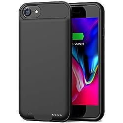 Coque Batterie pour iPhone 8/7, Batterie Externe Smiphee 3000 mAh pour iPhone 8, iPhone 7 (4.7 inch) Boitier d'Extension de la durée de Vie de la Batterie Juice Pack/Entrée câble Lightning