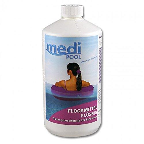 Flockmittel Flüssig 1 l von mediPOOL - Flockung - Trübungsbeseitigung für alle Pools und Schwimmbecken mit Sandfilter - Sandfilteranlage