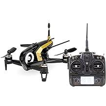 Walkera 15004470 FPV Racing-Quadrocopter Rodeo 150 RTF Drohne mit HD-Kamera, Akku, Ladegerät und Devo 7 Fernsteuerung, schwarz