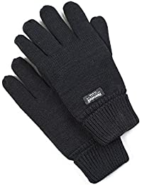 VEDONEIRE Mens Black Thinsulate Gloves (3006) One Size warm winter