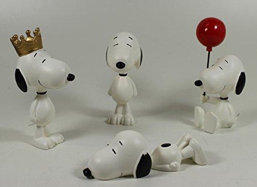 guren Set 4 Stück : Snoopy stehend , Snoopy liegend, mit Krone, mit Luftballon ()