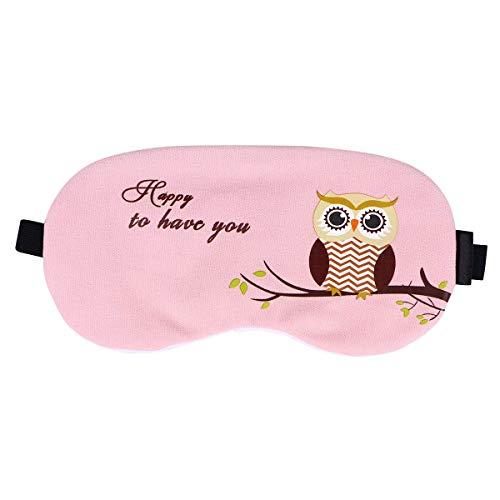MaoDaAiMaoYi Augenmaske Schlafmaske Mit Augen Abdeckung Für Blockieren Der Licht Für Männer Mode Living Frauen 6.5X4.5Cm Rosa (Color : Rosa, Size : One Size) -