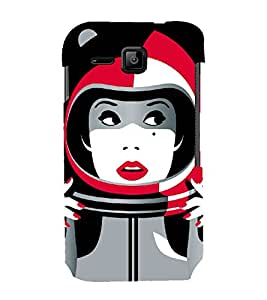 PrintVisa Astronaut Space Girl Art 3D Hard Polycarbonate Designer Back Case Cover for Micromax Bolt S301