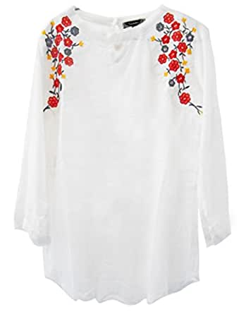 Triumphin Women's Cotton Top - TRAMT0058_White_Small