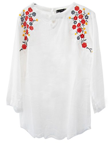 Triumphin Women's Cotton Top - TRAMT0058_White_Medium