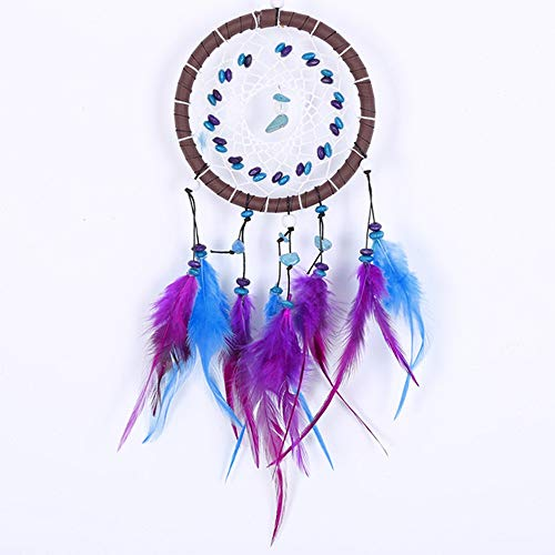 YuandCheng Decoración hogareña Turquoise Feather Dream Catchers Net Regalo Decoración Hecha Mano Accesorios de Regalo para Colgar Pared Ornamento Herramienta Practica Creativa