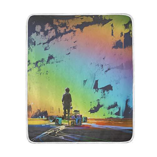CPYang Man Paints - Manta de Microfibra Suave para sofá o Cama,...