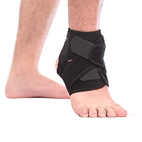 Extreme Knöchel-Stützen, Aibesser 2 Stücke Justierbare Neopren-Knöchel-Unterstützung mit breiten Strecke der Bewegung (Schwarz)