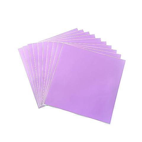 30,5x 30,5cm Noir mat en vinyle adhésif permanent dos en vinyle pour Craft projets, cricuts, silhouettes et perfore violet mat