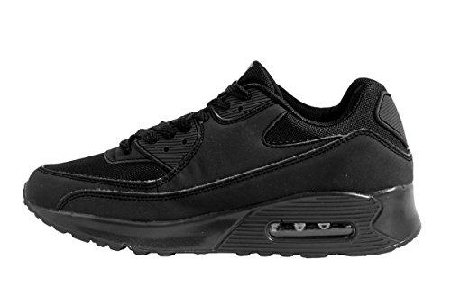 Sport Femmes et Hommes Chaussures rangers Chaussures de course profil semelle Baskets Noir - Noir