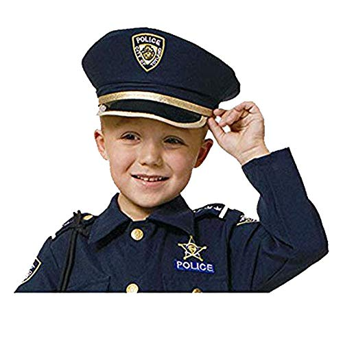 Dress Up America H226-K Pretend Police Hat for Kids/Adults Play Polizei Hut für Erwachsene, Einheitsgröße