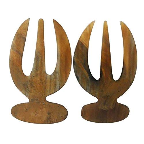 Better & Best 1511580–Set di 2posate da insalata, in corno, con unghie lunghe