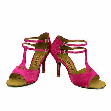 Scarpe da ballo-Personalizzabile-Da donna-Balli latino-americani Salsa-Tacco su misura-Raso-Nero Blu Giallo Rosa Viola Rosso Bianco Black