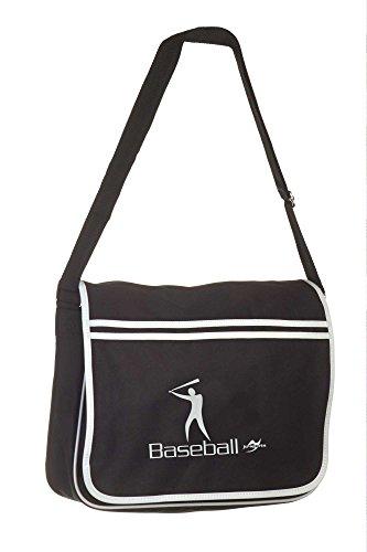 Retro Messenger Bag BG71 schwarz Baseball