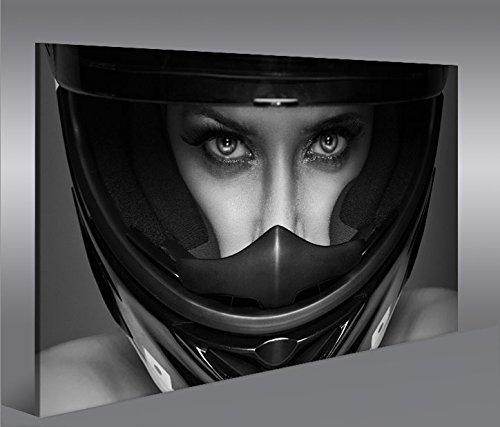 quadro-moderno-frau-mit-motorrad-helm-1p-stampa-su-tela-quadro-x-poltrone-salotto-cucina-mobili-uffi