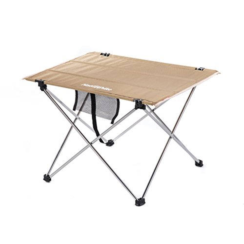Pliage en aluminium de camping pliant de table de pique-nique portatif extérieur (Couleur : Brass)