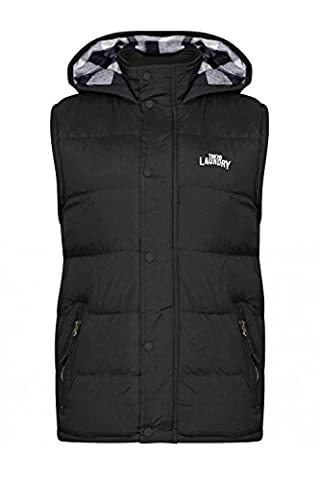 Mens Tokyo Laundry McCrooke Hooded Quilted Gilet - Black -
