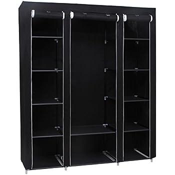 songmics xxl 175 x 150 x 45 cm stoffschrank. Black Bedroom Furniture Sets. Home Design Ideas